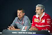 June 8-11, 2017: Canadian Grand Prix. Guenther Steiner, Haas F1 Team Principle, Maurizio Arrivabene, team principal of Scuderia Ferrari