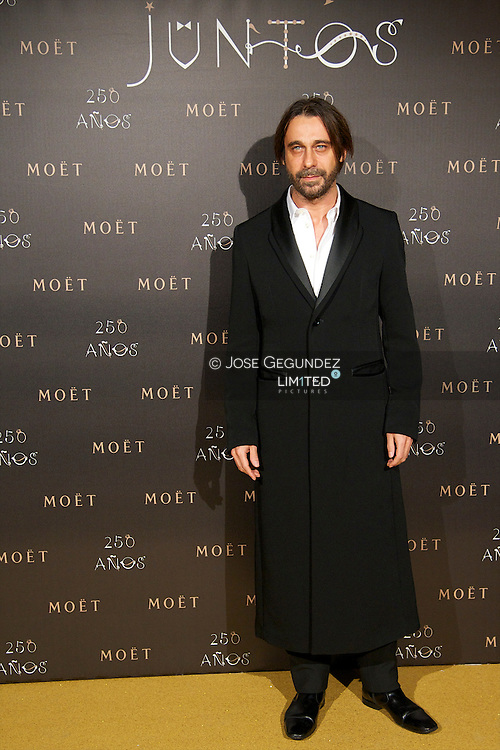 Jordi Molla attends the photocall for the 250th Anniversary of Moet & Chandon at the French Embassy in Madrid