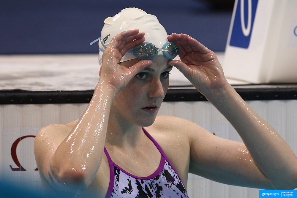 Missy Franklin, USA, training at the Aquatic Centre at Olympic Park, Stratford during the London 2012 Olympic games preparation at the London Olympics. London, UK. 26th July 2012. Photo Tim Clayton