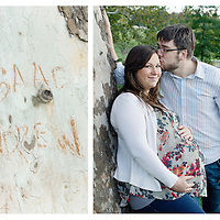 Maternity portraits of a couple on-location in Forest Park in St. Louis, MO.