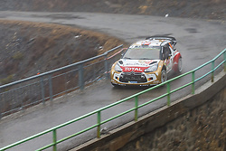 17.01.2014, Sisteron, FRA, FIA, WRC, Monte Carlo, 2. Tag, im Bild OSTBERG Mads / ANDERSSON Jonas ( CITROEN TOTAL ABU DHABI WRT (FRA) / CITROEN DS3 ) im dichten Nebel during day two of FIA Rallye Monte Carlo held near Monte Carlo, France on 2014/01/17. EXPA Pictures © 2014, PhotoCredit: EXPA/ Eibner-Pressefoto/ Neis<br /> <br /> *****ATTENTION - OUT of GER*****