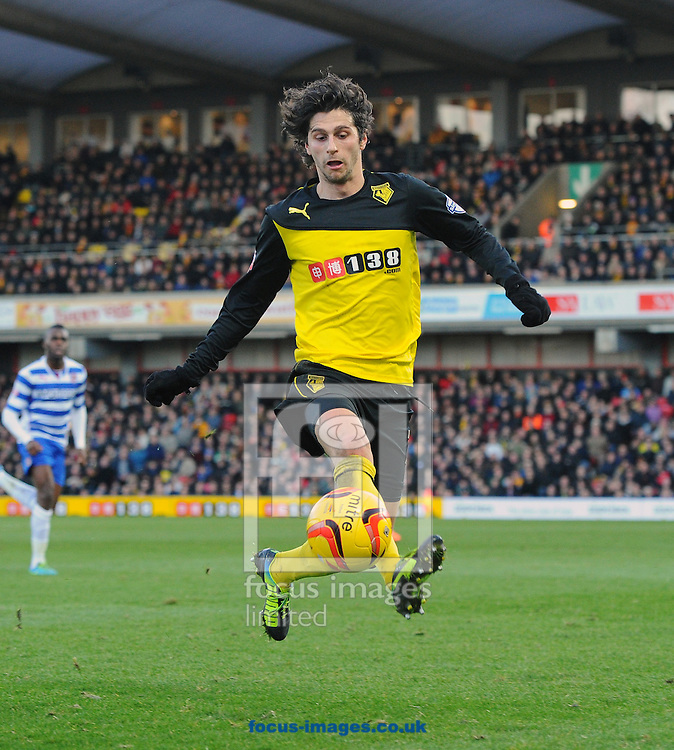 Picture by Seb Daly/Focus Images Ltd +447738 614630<br /> 11/01/2014<br /> Diego Fabbrini of Watford during the Sky Bet Championship match at Vicarage Road, Watford.