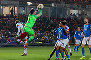 Christy Pym (1) saves during the EFL Sky Bet League 1 match between Peterborough United and Rotherham United at London Road, Peterborough, England on 25 January 2020.