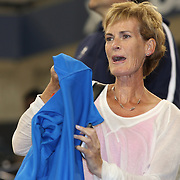 Judy Murray after seeing her son Andy Murray, Great Britain, win against Novak Djokovic, Serbia, in the Men's Singles Final during the US Open Tennis Tournament, Flushing, New York. USA. 10th September 2012. Photo Tim Clayton