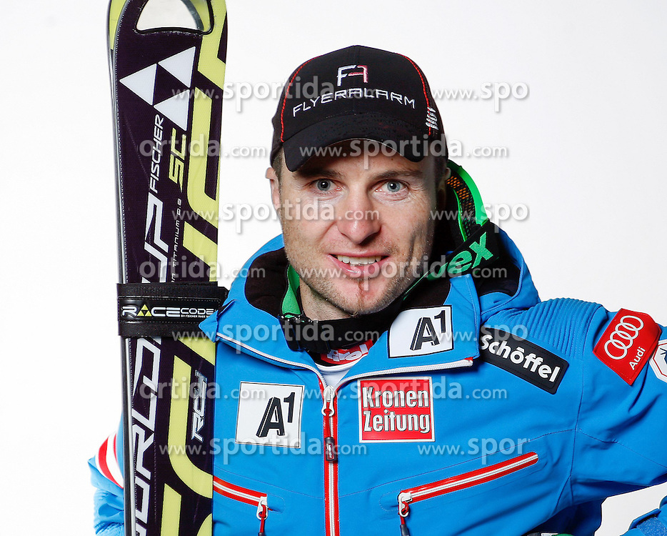 20.10.2012, Messehalle, Innsbruck, AUT, OeSV, Ski Alpin, Fototermin, im Bild Reinfried Herbst (OeSV, Skirennlaeufer) // during the official Portrait and Teamshooting of the Austrian Ski Federation (OeSV) at the Messehalle, Innsbruck, Austria on 2012/10/20. EXPA Pictures © 2012, PhotoCredit: EXPA/ OeSV/ Erich Spiess