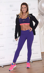 Samantha Faiers attends photocall to launch her new fitness website 'Celebrity Training with Samantha' at The Worx, London on January 6th 2015 London on Tuesday 6 January 2015