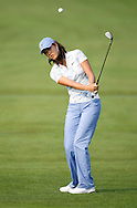 Michelle Wie of the US hits her third shot on the 1st hole during the first round of the US Women's Open Golf Championship at Newport Country Club in Newport Rhode Island, Friday 30 June 2006
