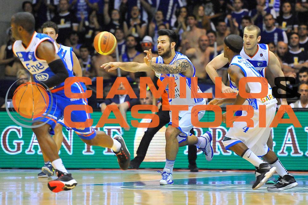 DESCRIZIONE : Campionato 2013/14 Quarti di Finale GARA 1 Dinamo Banco di Sardegna Sassari - Enel Brindisi<br /> GIOCATORE : Brian Sacchetti<br /> CATEGORIA : Passaggio Controcampo<br /> SQUADRA : Dinamo Banco di Sardegna Sassari<br /> EVENTO : LegaBasket Serie A Beko Playoff 2013/2014<br /> GARA : Dinamo Banco di Sardegna Sassari - Enel Brindisi<br /> DATA : 19/05/2014<br /> SPORT : Pallacanestro <br /> AUTORE : Agenzia Ciamillo-Castoria / Luigi Canu<br /> Galleria : LegaBasket Serie A Beko Playoff 2013/2014<br /> Fotonotizia : DESCRIZIONE : Campionato 2013/14 Quarti di Finale GARA 1 Dinamo Banco di Sardegna Sassari - Enel Brindisi<br /> Predefinita :