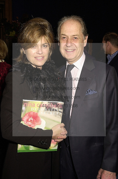 SIR JOHN & LADY LEON, he is actor John Standing, at a reception in London on 27th September 2000.OHJ 48