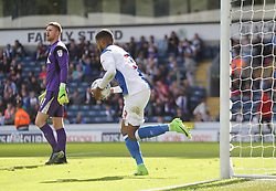 Dominic Samuel of Blackburn Rovers collects the ball after scoring his sides first goal - Mandatory by-line: Jack Phillips/JMP - 12/08/2017 - FOOTBALL - Ewood Park - Blackburn, England - Blackburn Rovers v Doncaster Rovers - English Football League One