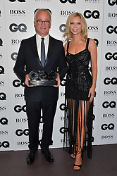 CLAUDIO RANIERI and RACHEL RILEY at the GQ Men of The Year Awards 2016 in association with Hugo Boss held at Tate Modern, London on 6th September 2016.