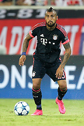 16.09.2015, Karaiskakis Stadium, Piräus, GRE, UEFA CL, Olympiakos Piräus vs FC Bayern München, Gruppe F, im Bild Arturo Vidal #23 (FC Bayern Muenchen) // during UEFA Champions League group F match between Olympiacos F.C. and FC Bayern Munich at the Karaiskakis Stadium in Piräus, Greece on 2015/09/16. EXPA Pictures © 2015, PhotoCredit: EXPA/ Eibner-Pressefoto/ Kolbert<br /> <br /> *****ATTENTION - OUT of GER*****