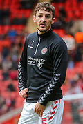 Charlton Athletic defender Tom Lockyer (5) warms up prior to the EFL Sky Bet Championship match between Charlton Athletic and West Bromwich Albion at The Valley, London, England on 11 January 2020.