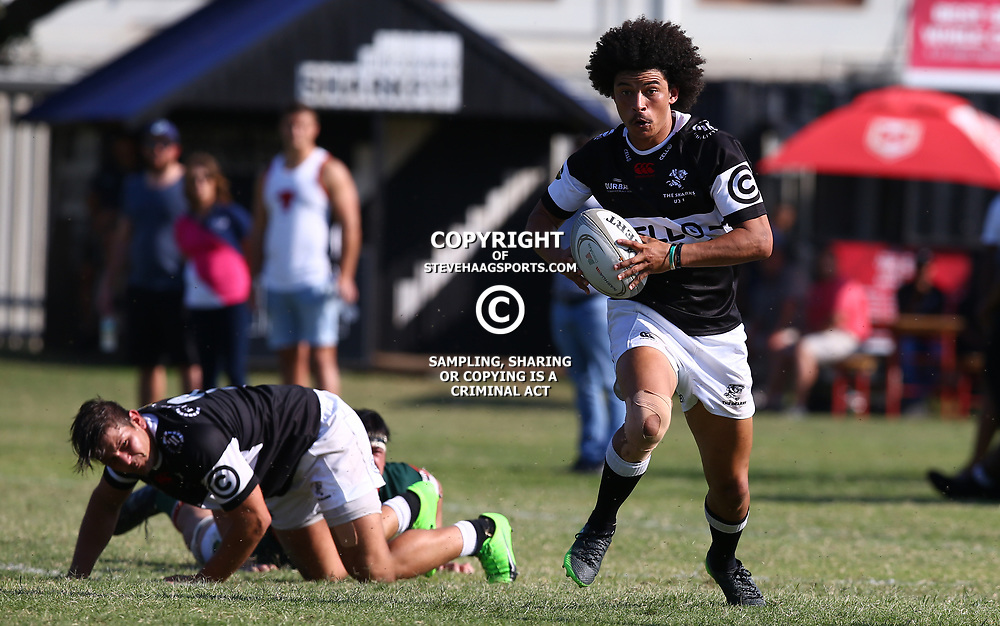 Courtney Winnaar of the Cell C Sharks Under 21's during The Cell C Shark 21's and Leopards  21's Currie Cup at Growthpoint Kings Park KP2 in Durban, South Africa. 8th September  2017 (Photo by ( Steve Haag Sports)