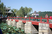 Red Bridge Summer Palace Beijing China built by Empress Cixi