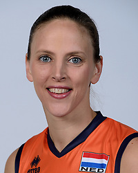 06-05-2014 NED: Selectie Nederlands zitvolleybal team vrouwen, Leersum<br /> In sporthal De Binder te Leersum werd het Nederlands team zitvolleybal seizoen 2014-2015 gepresenteerd / Chaine Staelens