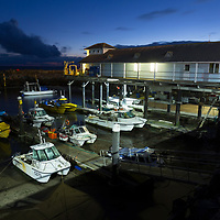 Harbour, at night, Fish Quay, Ventnor, Isle of Wight, England, UK,