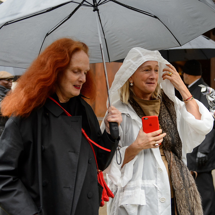 Grace Coddington and Lucinda Chambers at Victoria Beckham FW2018