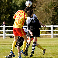 13.10.12<br /> McDonalds Ennis/Shannon Clare Schoolboys Soccer League Cup Finals. Firefighter Darren Stack Memorial Under 16 Cup Final, Moher Celtic V Avenue Utd. Moher's Cian O'Dea in action against Avenue's Connor Grogan. Pic: Alan Place Press 22
