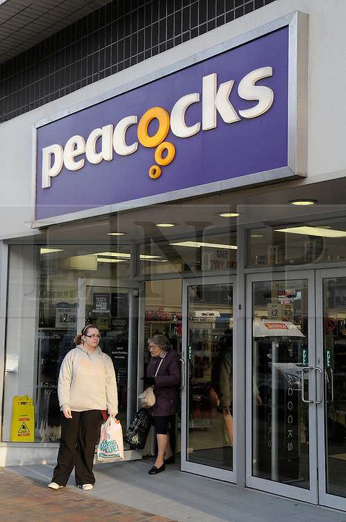 © Licensed to London News Pictures. 17/01/2012. The Orpington branch of Peacocks has a 70% sale on. Peacocks the UK clothing retailer has launched a search for new investors to avoid going into administration and the loss of over 10,000 jobs. Photo credit : Grant Falvey/LNP