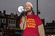 20 Nov 2016 - Ritzy cinema staff continue their strike action to demand the living wage.