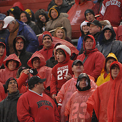 Dec 5, 2009; Piscataway, NJ, USA; Rutgers superfan Lil' Jovi lip-syncs during second half NCAA Big East college football action in West Virginia's 24-21 victory over Rutgers at Rutgers Stadium.