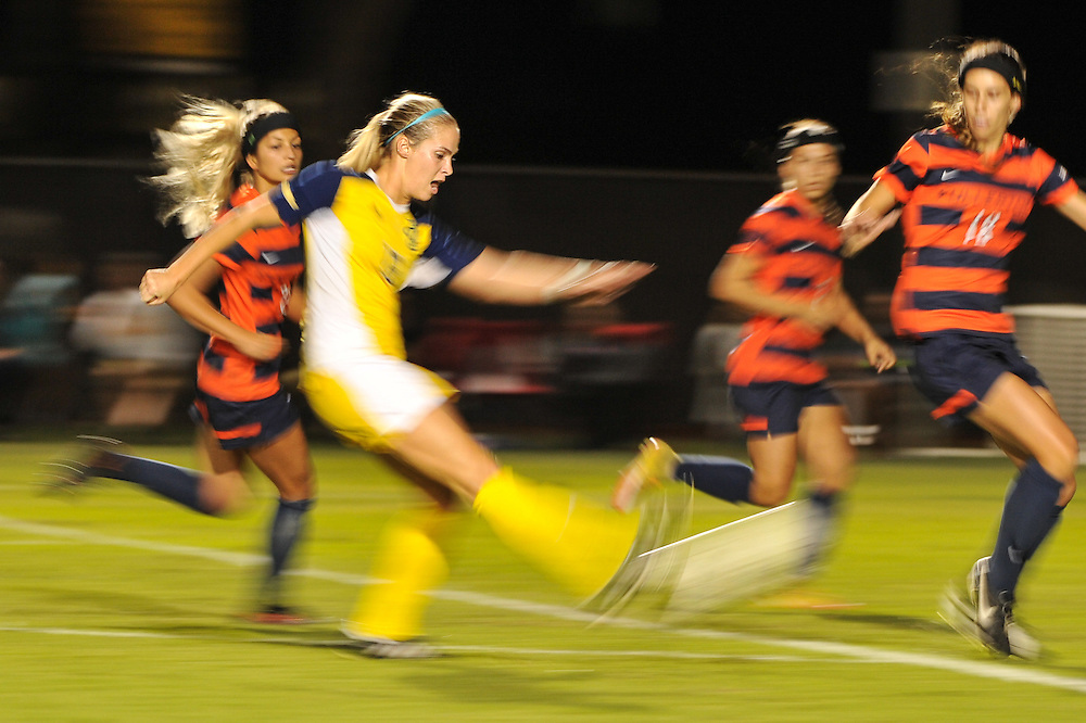 11/3/16 8:26:10 PM UC Irvine Anteater midfielder Grayson Galbraith (13) takes a shot during the first half of the Big West Tournament Women's Soccer Semi-finals against Cal State Fullerton at George Allen Field on the campus of Cal State Long Beach, in Long Beach, CA<br /> <br /> Photo by Joshua D. McKee