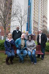 Group portrait at flats.