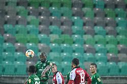 Jucie Lupeta during football match between NK Olimpija Ljubljana and NK Aluminij in semi final of Slovenian Cup 2018/19, on April 23, 2019 in Stozice Stadium, Ljubljana, Slovenia. Photo by Morgan Kristan