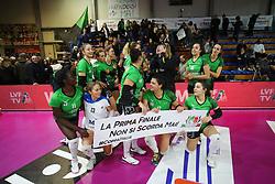 IL SASSUOLO ESULTA<br /> CANOVI COPERTURE SASSUOLO - ITAS CITTA' FIERA MARTIGNACCO<br /> PALLAVOLO SEMIFINALE COPPA ITALIA VOLLEY A2-F 2018-2019<br /> SASSUOLO (MO) 23-01-2019<br /> FOTO FILIPPO RUBIN / LVF