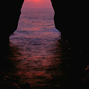 Rosh Honikra at sunset<br />