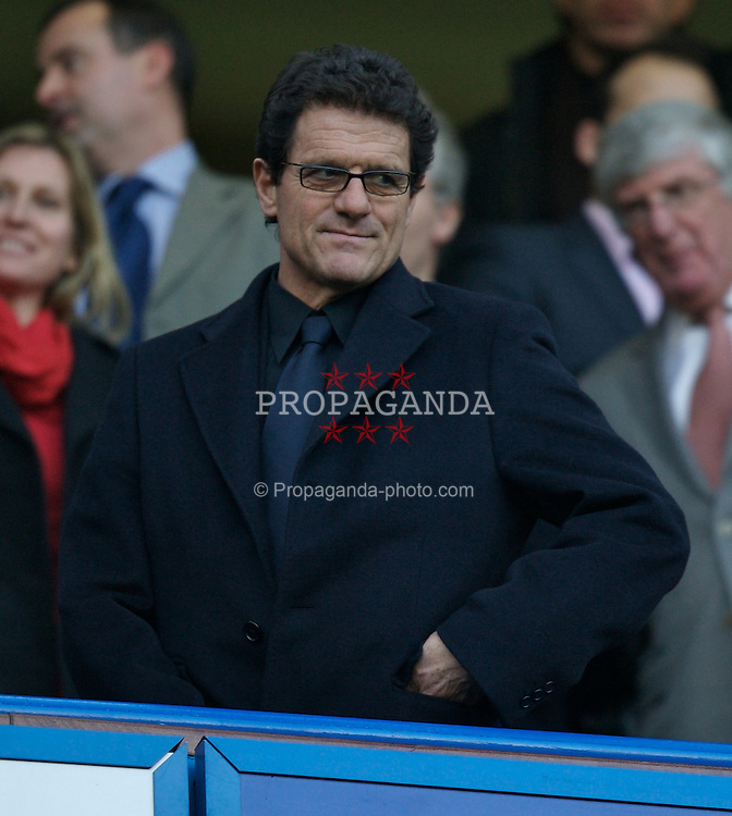 LONDON, ENGLAND - Sunday, February 10, 2008: England coach Fabio Capello during the Premiership match at Stamford Bridge. (Photo by David Rawcliffe/Propaganda)