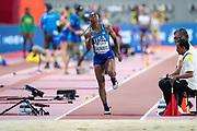 Sha'keela Saunders (USA), Long Jump Women - Final, during the 2019 IAAF World Athletics Championships at Khalifa International Stadium, Doha, Qatar on 6 October 2019.