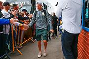 Leeds United defender Ezgjan Alioski (10) arriving during the EFL Sky Bet Championship match between Leeds United and Brentford at Elland Road, Leeds, England on 21 August 2019.