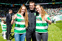 24/05/15 SCOTTISH PREMIERSHIP<br /> CELTIC v INVERNESS CT<br /> CELTIC PARK - GLASGOW<br /> Celtic manager Ronny Deila (centre) joins his daughters Thile (left) and Live as he celebrates<br /> ** ROTA IMAGE - FREE FOR USE **