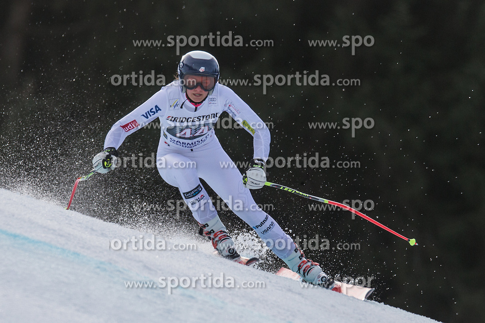 06.02.2016, Kandahar, Garmisch Partenkirchen, GER, FIS Weltcup Ski Alpin, Abfahrt, Damen, im Bild Alice Merryweather (USA) // Alice Merryweather of the USA competes during the ladies Downhill of Garmisch FIS Ski Alpine World Cup at the Kandahar course in Garmisch Partenkirchen, Germany on 2016/02/06. EXPA Pictures © 2016, PhotoCredit: EXPA/ Johann Groder
