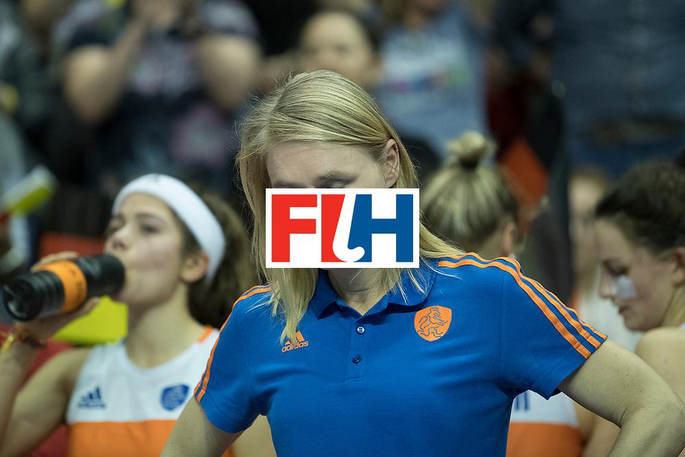 Hockey, Seizoen 2017-2018, 11-02-2018, Berlijn,  Max-Schmelling Halle, WK Zaalhockey 2018 WOMEN, Finale Nederland - Duitsland 1-2, Marieke Dijkstra Worldsportpics copyright Willem Vernes