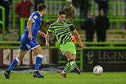 Forest Green Rovers Matty Stevens(9) passes the ball forward during the EFL Sky Bet League 2 match between Forest Green Rovers and Carlisle United at the New Lawn, Forest Green, United Kingdom on 28 January 2020.