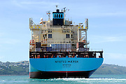 Maersk Line container ship, Nysted Maersk Wellington harbour, New Zealand. 29/12/2007