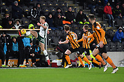 Hull City forward Jarrod Bowen (20) takes ball during the EFL Sky Bet Championship match between Hull City and Barnsley at the KCOM Stadium, Kingston upon Hull, England on 27 February 2018. Picture by Ian Lyall.