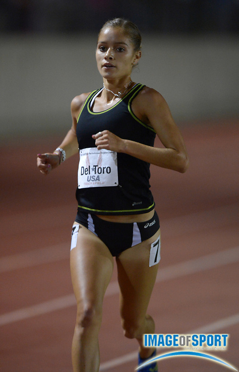 May 17, 2013; Los Angeles, CA, USA; Rosa Del Toro competes in the womens 5,000m in the 2013 USATF High Performance meet at Occidental College.