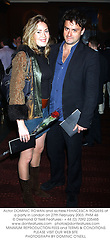 Actor DOMINIC ROWAN and actress FRANCESCA ROGERS at a party in London on 27th February 2003.	PHM 46