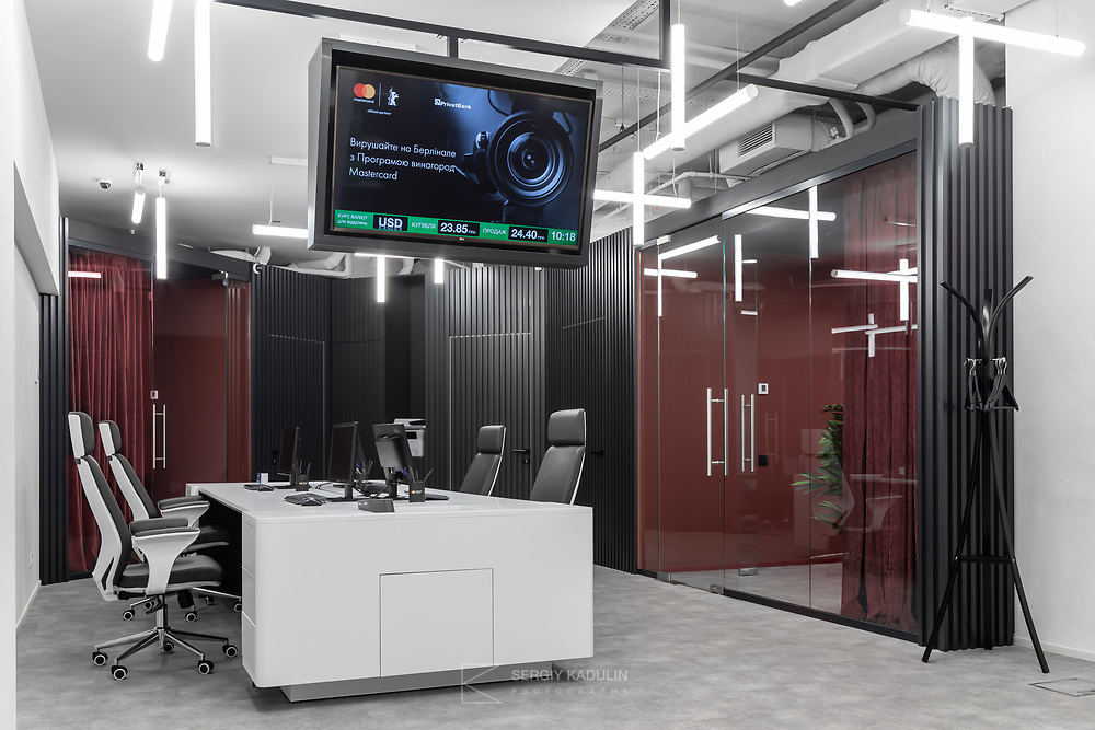 Interior photoshoot of the bank office.<br /> Location: IQ Business center, Kyiv.