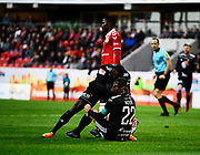 KALMAR, SWEDEN - APRIL 18: Brwa Nouri of Ostersunds FK scores the opening goal to 0-1 during the Allsvenskan match between Kalmar FF and Ostersunds FK at Guldfageln Arena on April 18, 2018 in Kalmar, Sweden. Photo by Jonas Gustafsson/Ombrello ***BETALBILD***