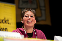 08 JAN 2011, BERLIN/GERMANY:<br /> Inge Viett, Radikale Linke, Autorin und ehemaliges Mitglied der RAF, Podiumsdiskussion, 16. Internationale Rosa-Luxenburg-Konferenz, Urania Haus<br /> IMAGE: 20110108-01-039