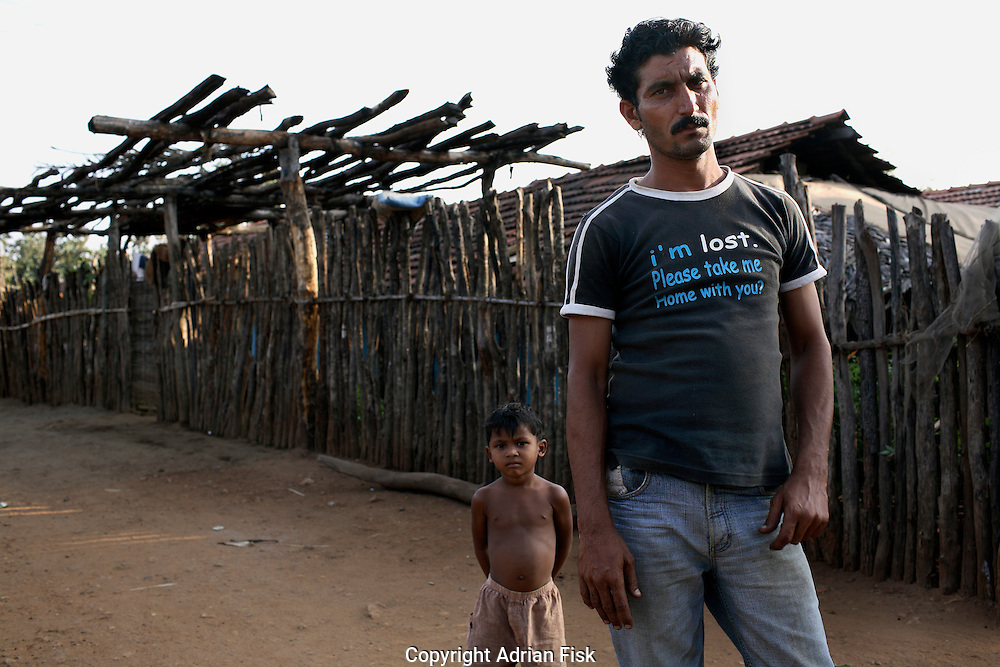 A member of the Salwa Judam militia in Errabore camp in the southern Chhattisgarh district of Dantewada. Many have left the camps, some of which held 40,000, because of lack of work and facilities. Those that stay have little option, they are Salwa Judam members and will be killed should they or their family return to their jungle villages.