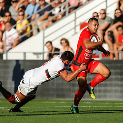 Jonah Placid of Toulon during the pre-season match between Rc Toulon and Lyon OU at Felix Mayol Stadium on August 17, 2017 in Toulon, France. (Photo by Guillaume Ruoppolo/Icon Sport)