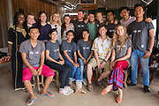 All the ICS volunteers based in the village of in Banteay Char, near Battambang, Cambodia.