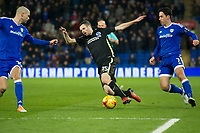 Football - 2016 / 2017 Sky Bet [EFL] Championship - Cardiff City vs. Brighton & Hove Albion<br /> <br /> Jamie Murphy of Brighton & Hove Albion brought down by Peter Whittingham Cardiff City---, at Cardiff City Stadium.<br /> <br /> COLORSPORT/WINSTON BYNORTH