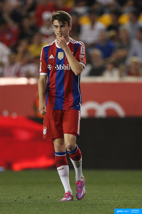 Lucas Scholl, Bayern Munich, in action during the FC Bayern Munich vs Chivas Guadalajara, friendly football match at Red Bull Arena, New Jersey, USA. 31st July 2014. Photo Tim Clayton